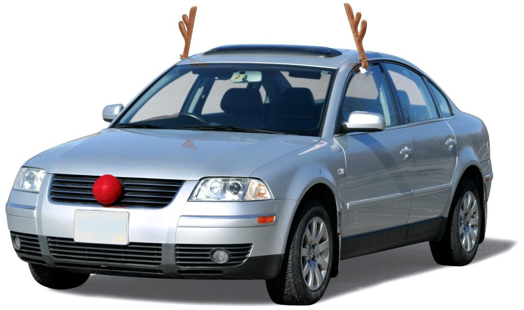 Rudolf the Red Nosed... Sedan?