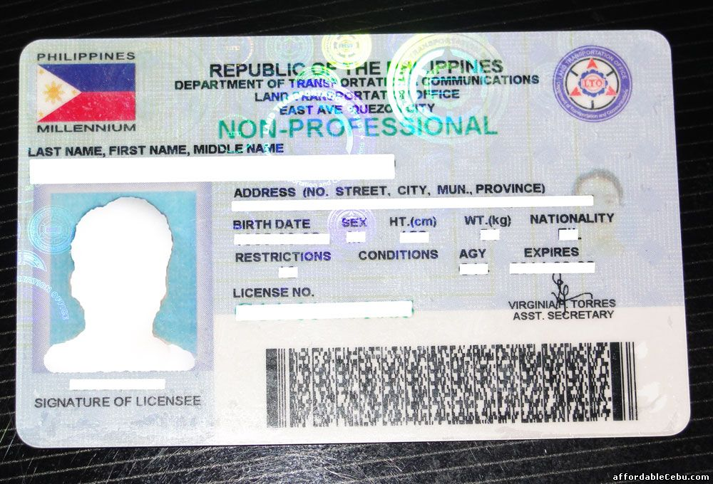 Non Professional License