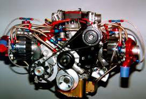 modified car engine