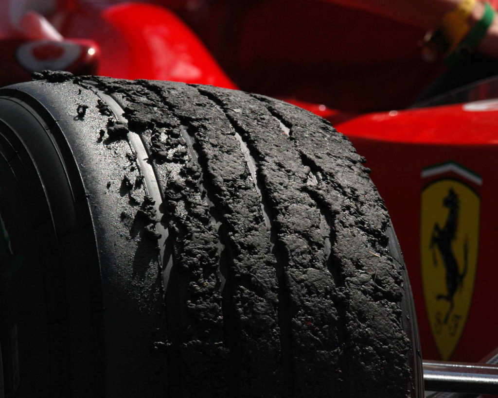 ferrari rubber tires