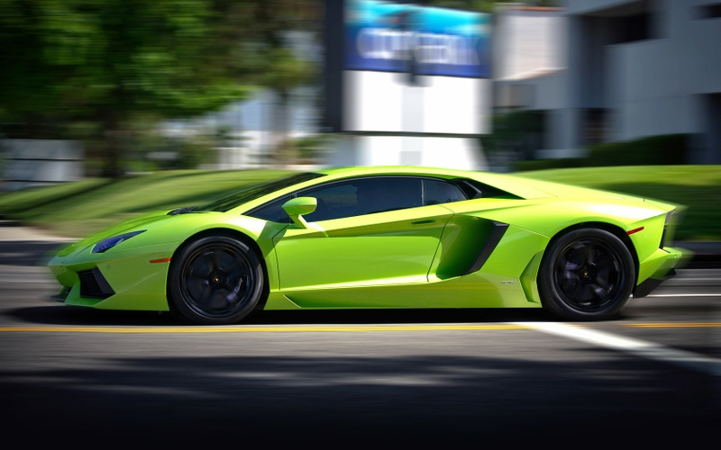 lime green car