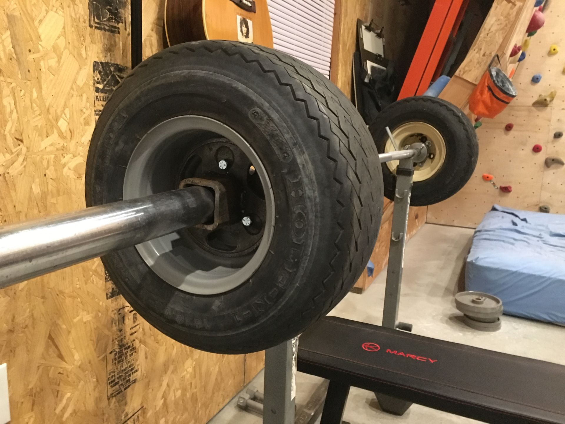 DIY Gym Equipment from Car Parts