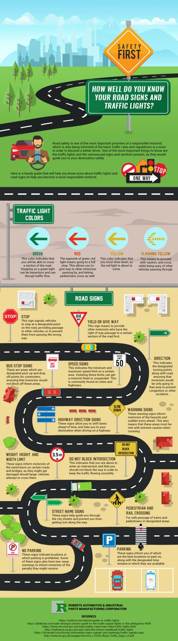 Infog Safety First How Well Do You Know Your Road Signs And Traffic Lights