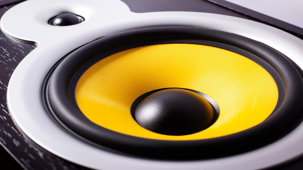 Close up of a car's subwoofer