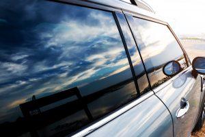 Close up of a car's windows