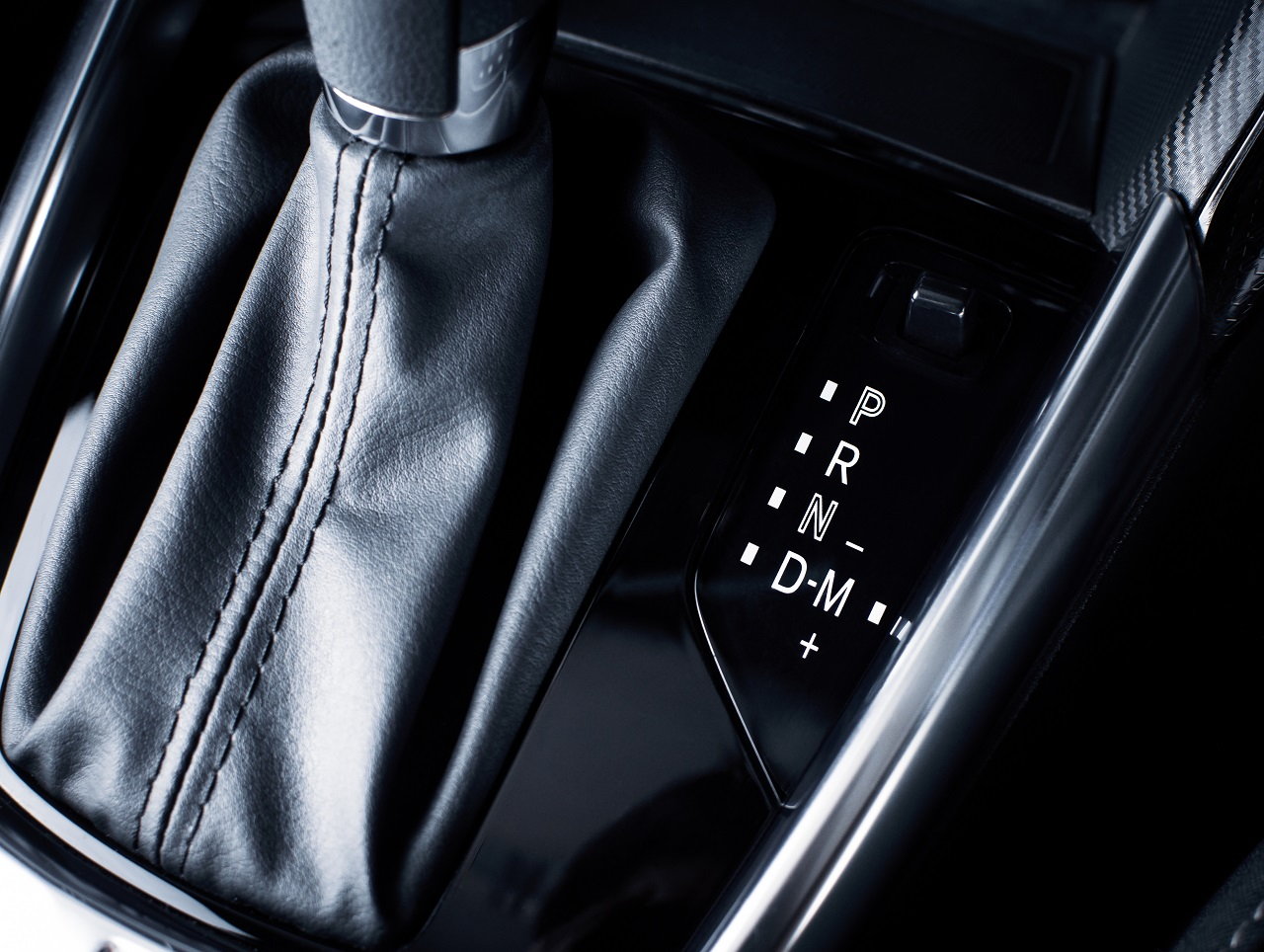 Close up of a car's gear shift