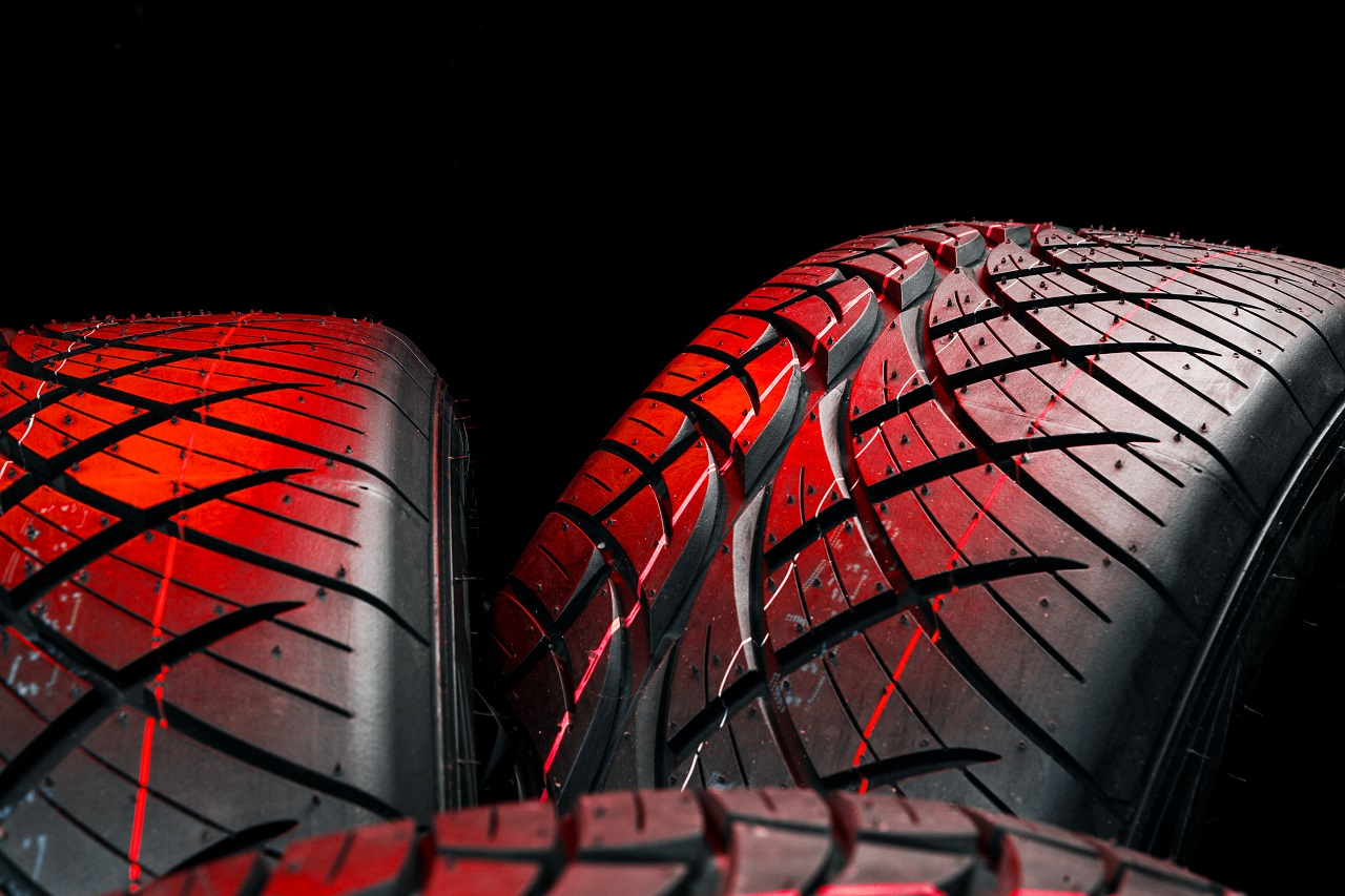 Close up of car tires