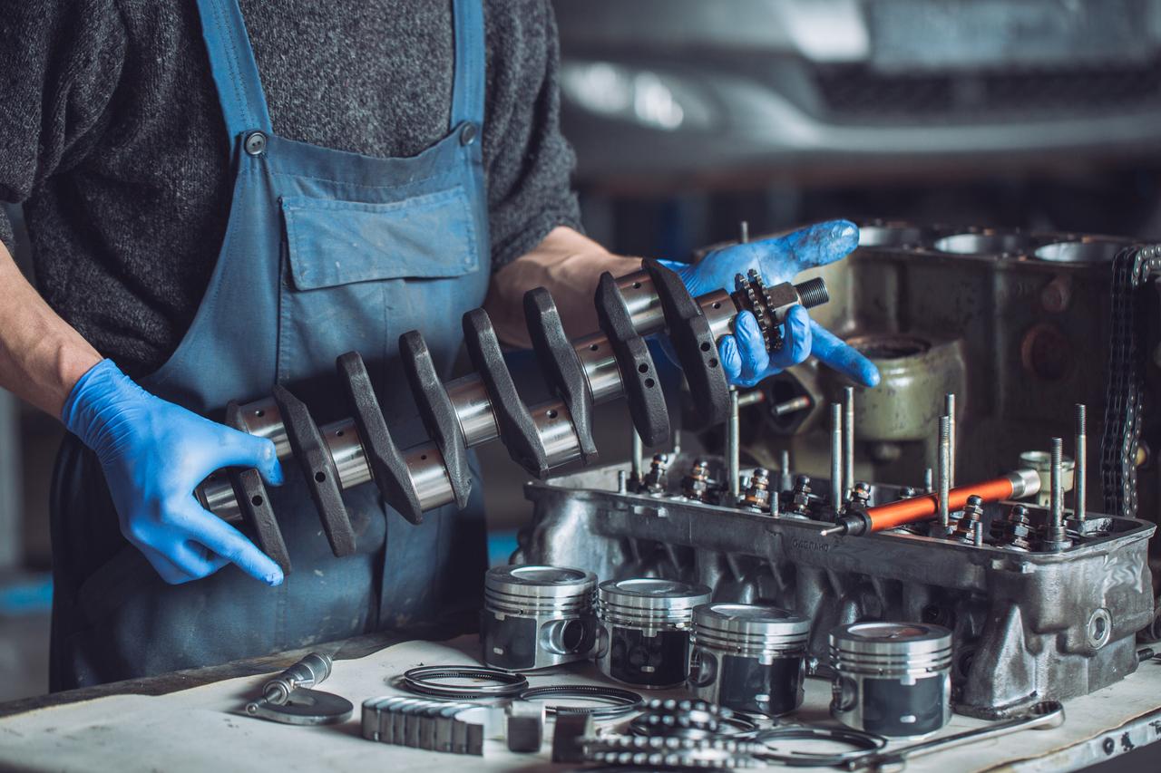 Placing engine back together