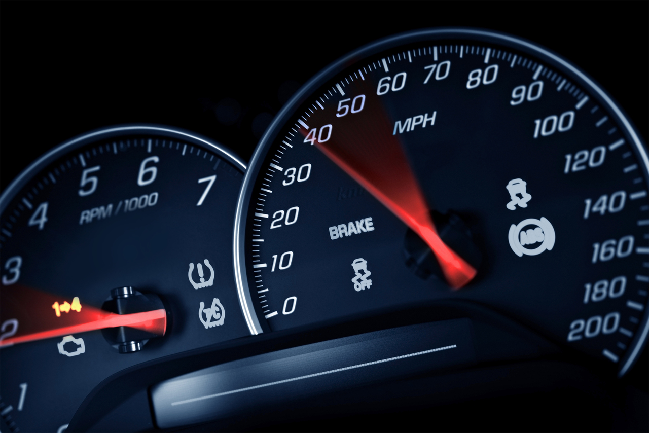 A car's speedometer