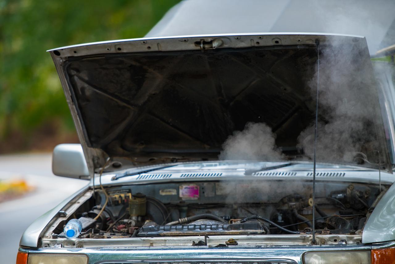 An overheating car
