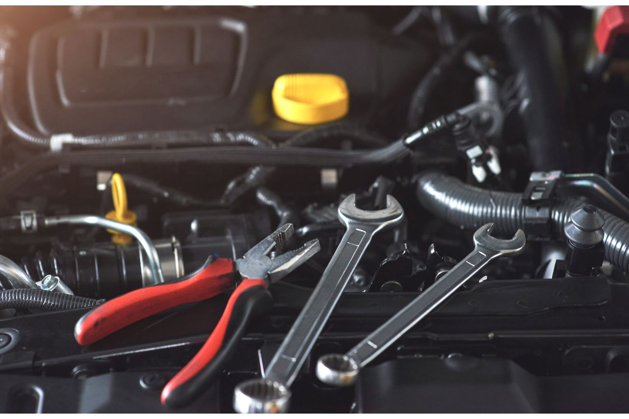 Tools for fixing the car